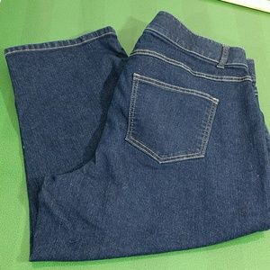 Woman Within Stretch Denim Capris